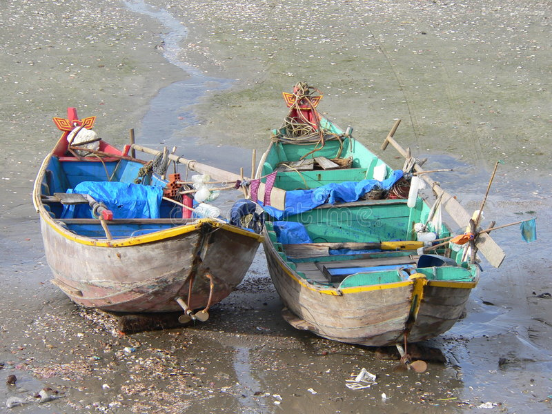 Barcos de pesca foto de archivo libre de regalías