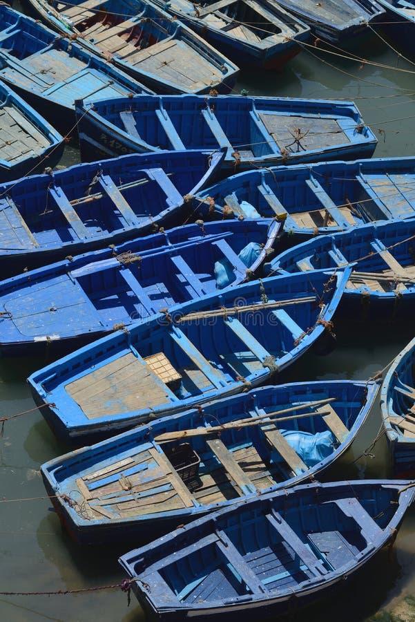 Barcos de pesca de madeira foto de stock