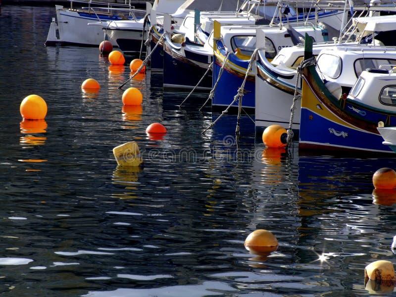 Barcos de pesca de Malta imágenes de archivo libres de regalías