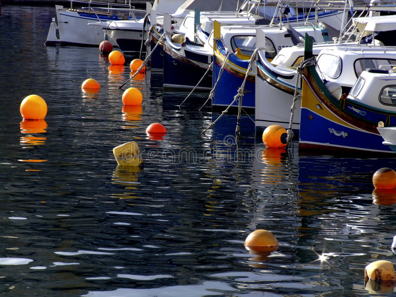 Barcos de pesca de Malta imagens de stock royalty free