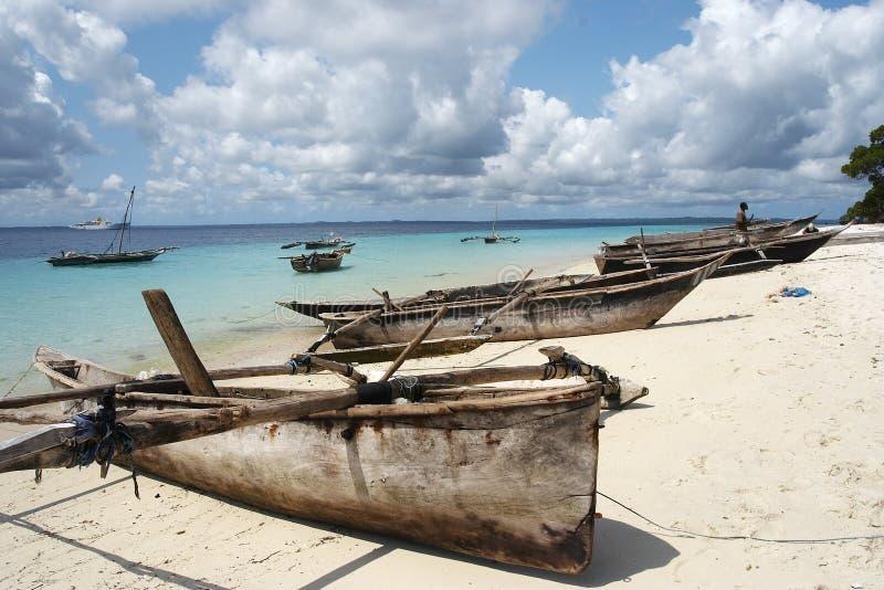 Barcos de pesca de Misali foto de stock