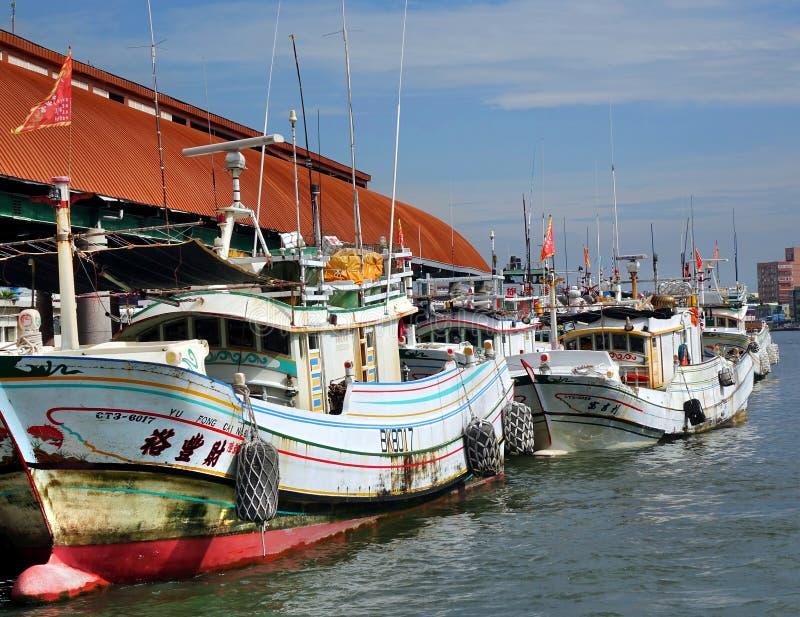 Barcos de pesca del chino tradicional foto de archivo libre de regalías