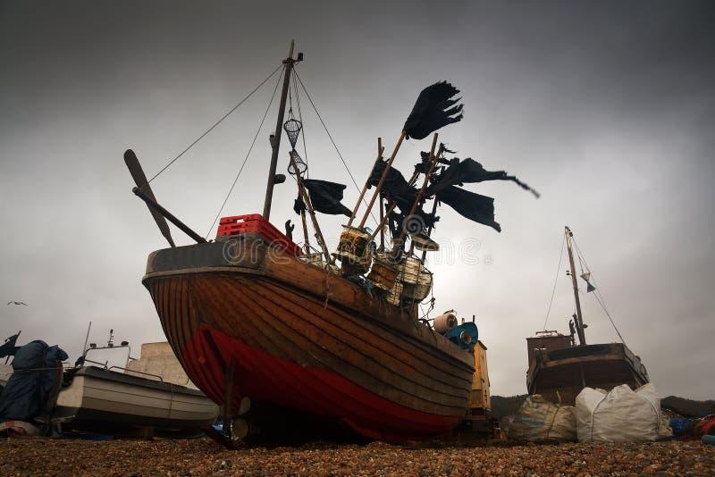 Barcos de pesca, Hastings, Reino Unido imágenes de archivo libres de regalías