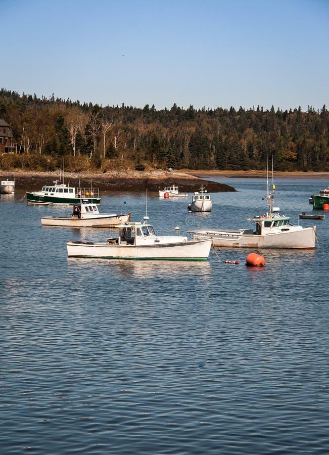 Barcos de pesca Maine imagenes de archivo