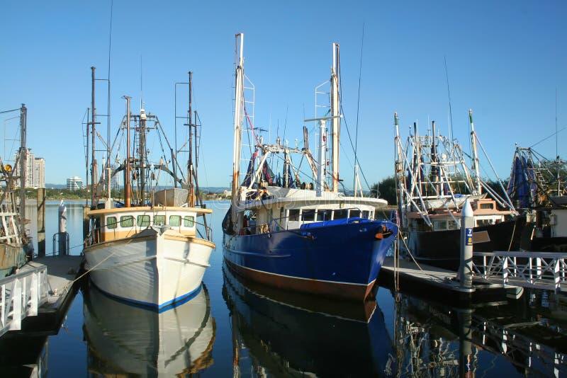 Barcos de pesca na doca foto de stock royalty free