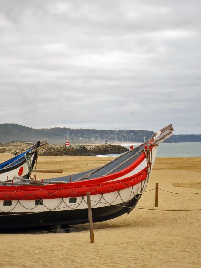 Barcos de pesca de Nazare foto de archivo libre de regalías