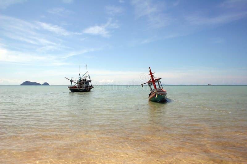 Barcos de pesca - Tailandia imagen de archivo libre de regalías