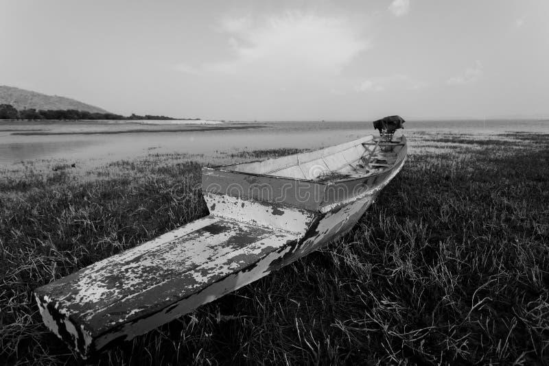 Barcos de pesca velhos fotografia de stock