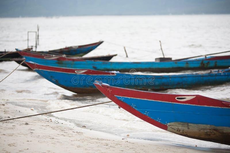 Barcos de pesca Vietnam imagem de stock
