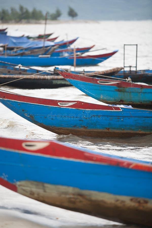 Barcos de pesca Vietnam imagens de stock