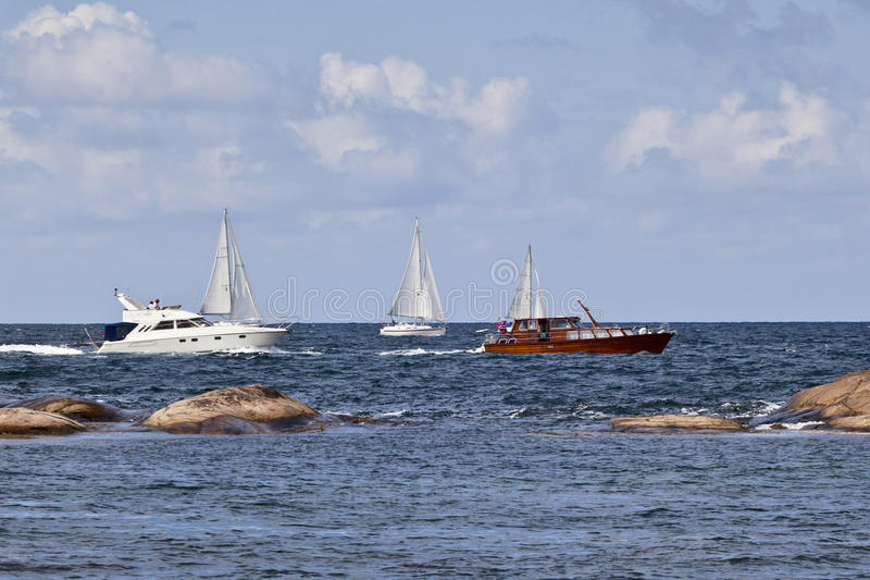 Barcos de placer fotos de archivo