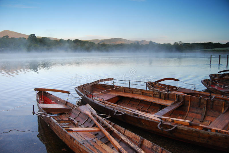Barcos en Keswick fotos de archivo