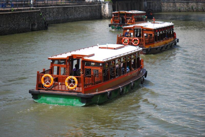 Barcos de río imagen de archivo libre de regalías
