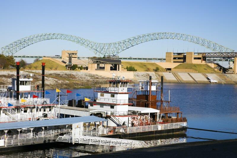 Barcos de vapor en Mississipi foto de archivo libre de regalías