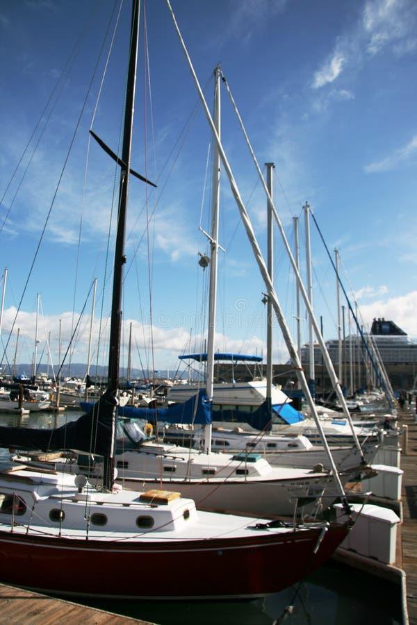 Barcos de vela foto de stock