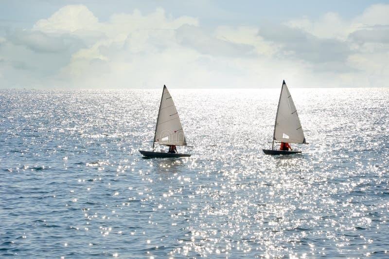 Barcos de vela do laser imagem de stock royalty free