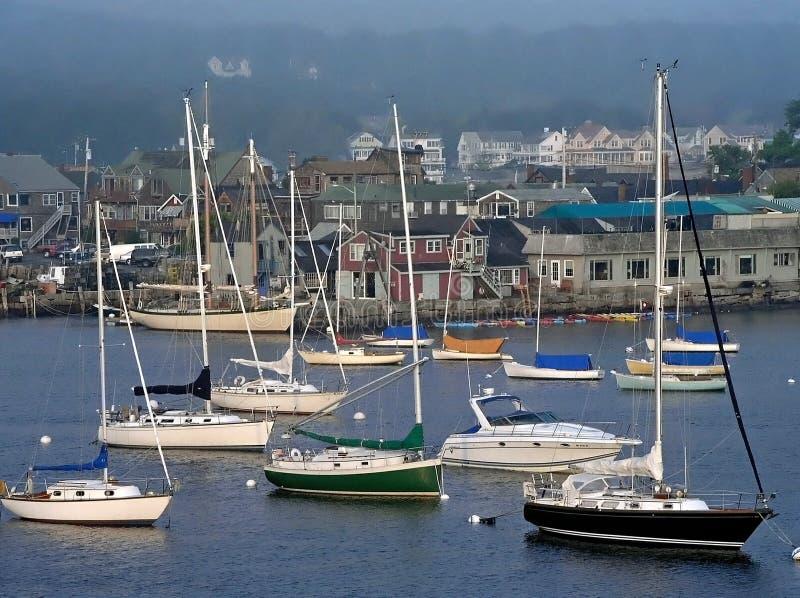 Barcos de vela en una fila foto de archivo libre de regalías