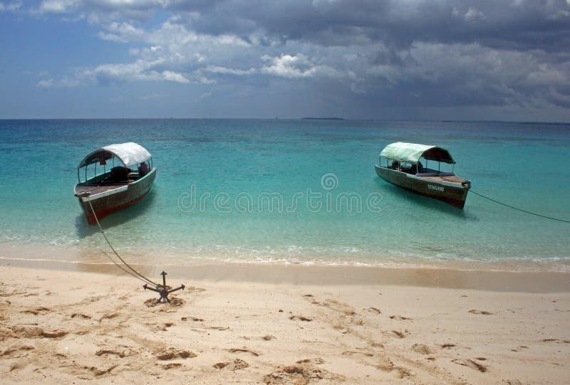 Barcos de Zanzibar imagem de stock