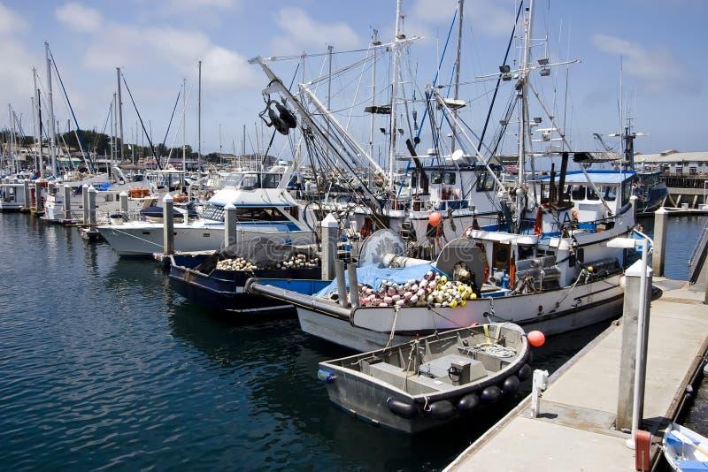 Barcos del asunto de la pesca fotos de archivo