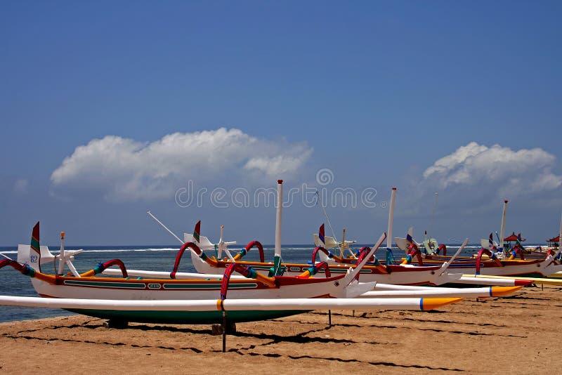 Barcos del Balinese fotos de archivo libres de regalías