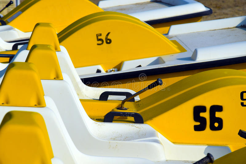 Barcos del pedal imagenes de archivo