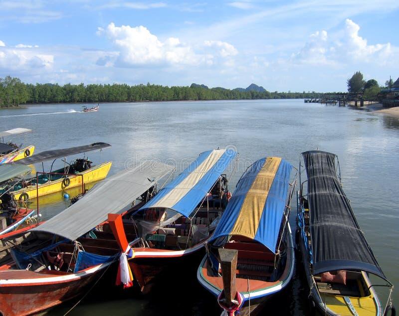 Barcos del viaje en Tailandia imagen de archivo