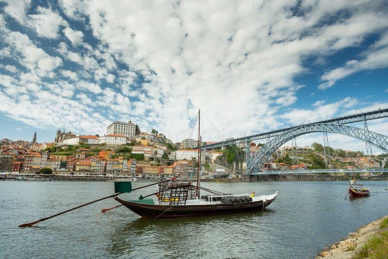 Barcos del vino de Oporto fotografía de archivo