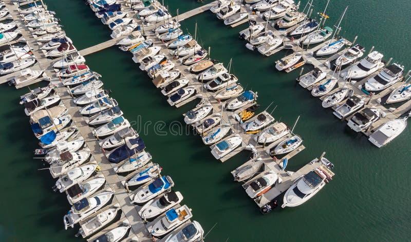 Barcos desde arriba en Dana Point, California fotos de archivo