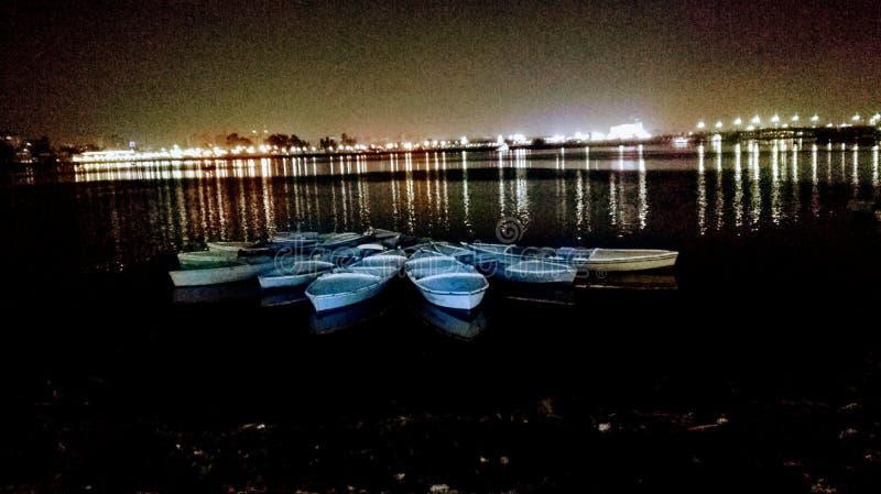 Barcos do lago foto de stock