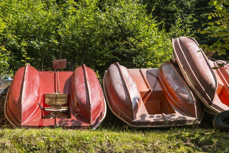 Barcos do pedal fotos de stock royalty free