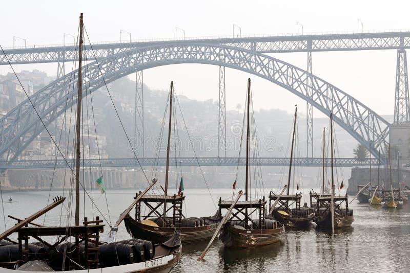 Barcos do Porto Rabelo imagens de stock