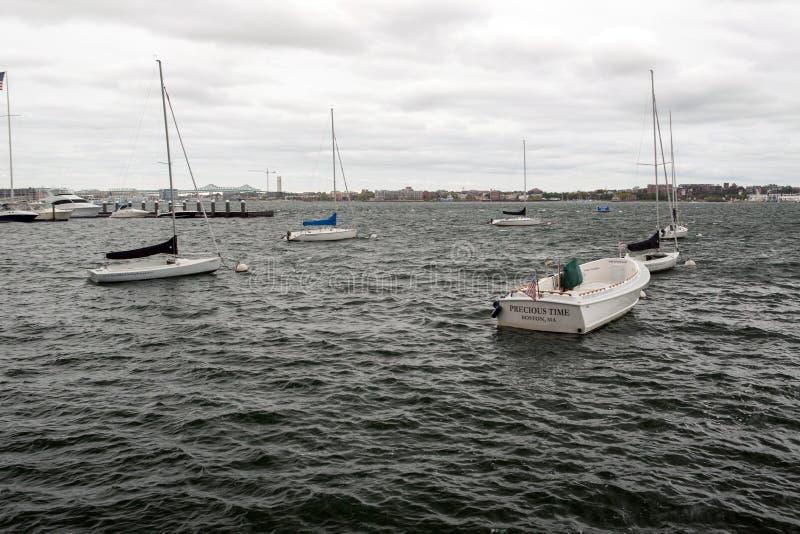 Barcos em Boston imagens de stock