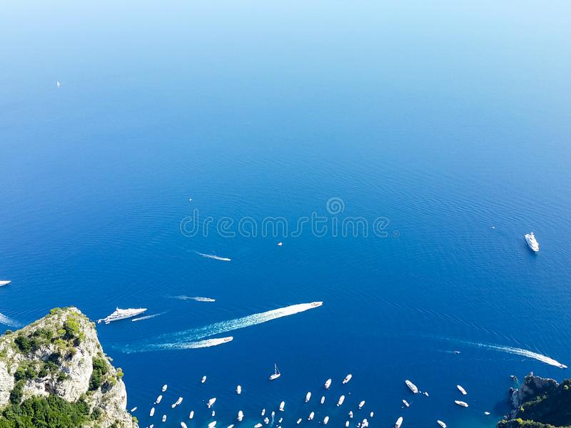 Barcos em Capri de Anacapri fotos de stock royalty free