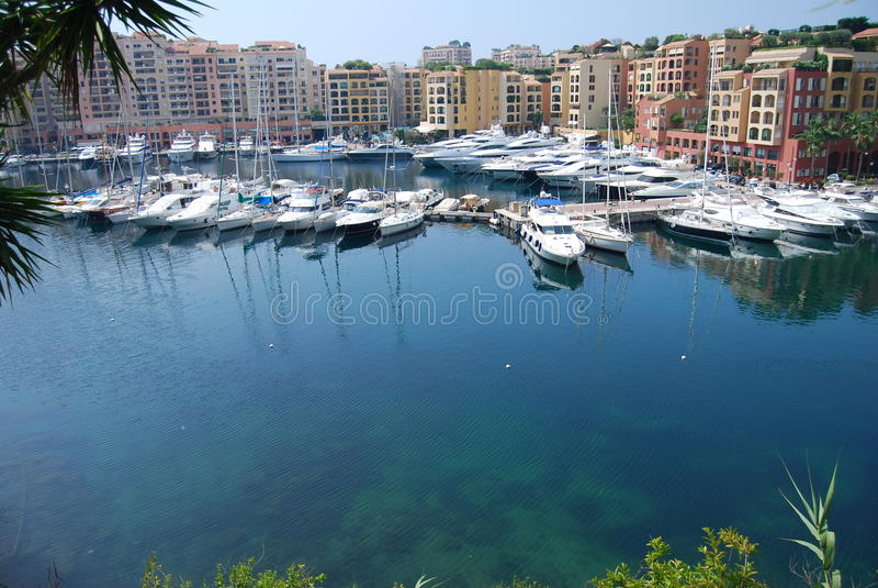 Barcos em Monaco fotos de stock royalty free