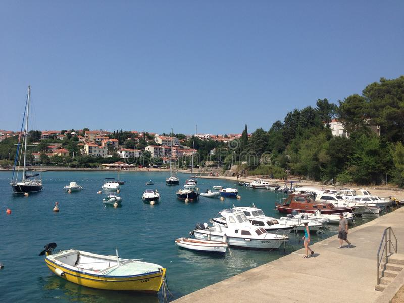 Barcos en Croatia fotos de archivo libres de regalías