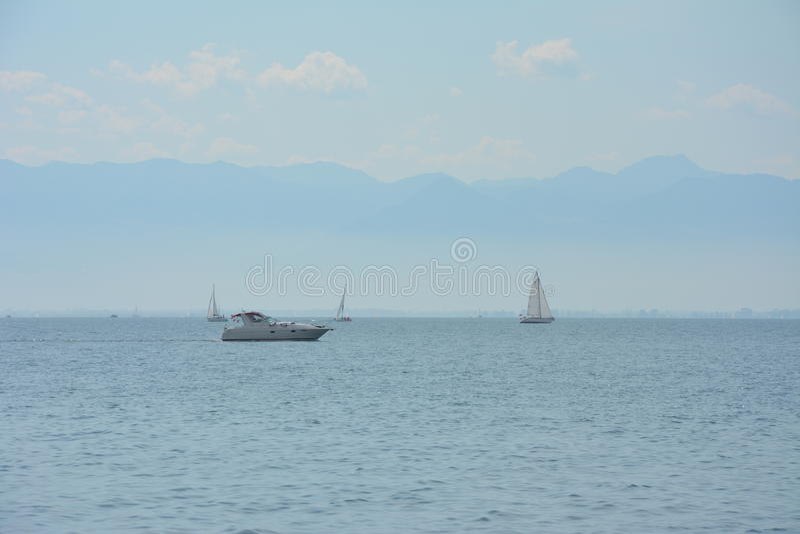 Barcos en el bodensee imágenes de archivo libres de regalías