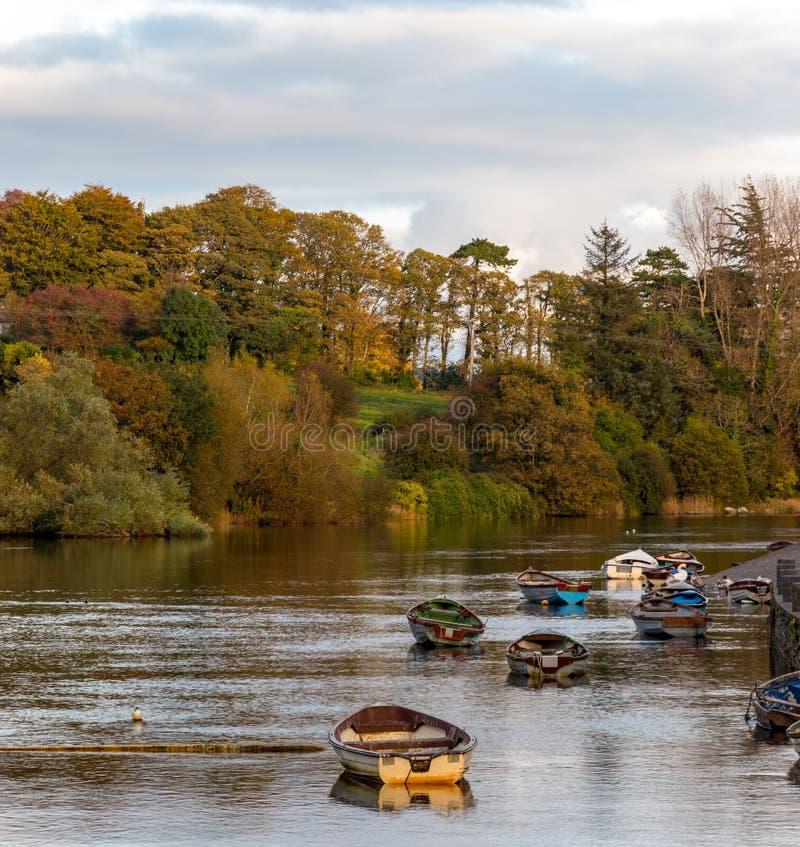 Barcos en el canal foto de archivo libre de regalías