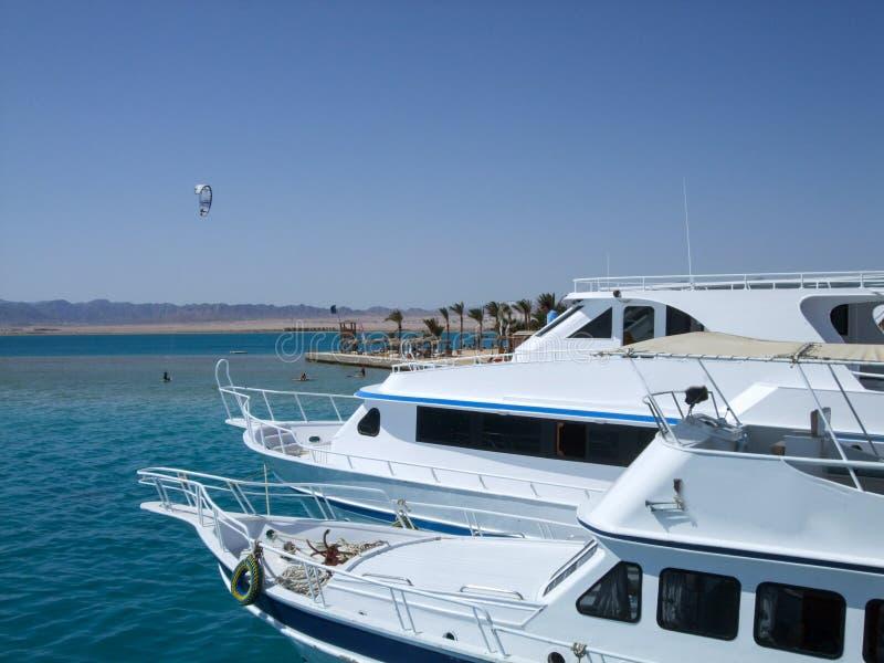 Barcos en el embarcadero fotografía de archivo
