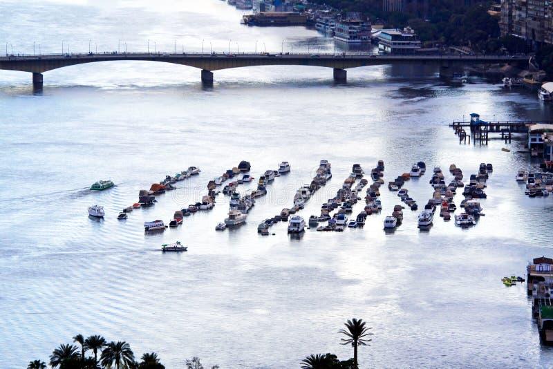 Barcos en el Nilo foto de archivo