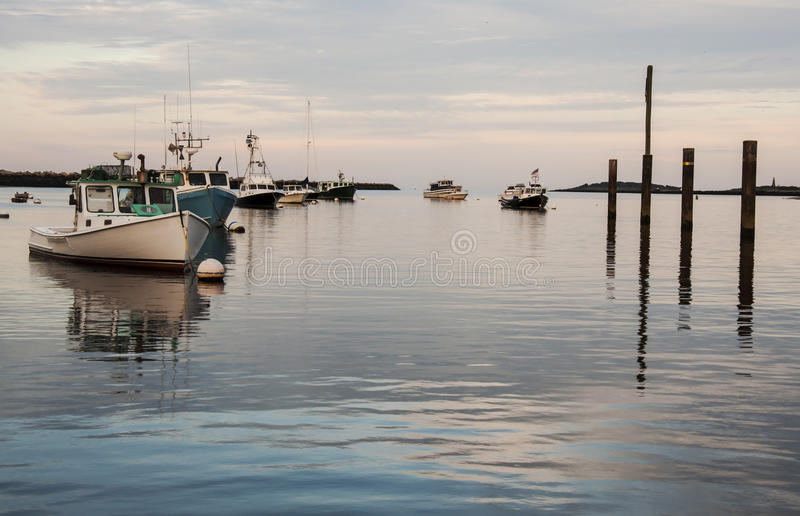 Los barcos de Maine fotografía de archivo