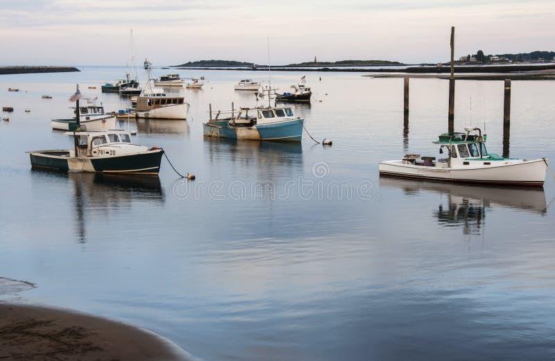 Los barcos de Maine imagenes de archivo