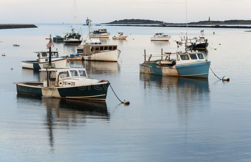 Los barcos de Maine fotos de archivo libres de regalías