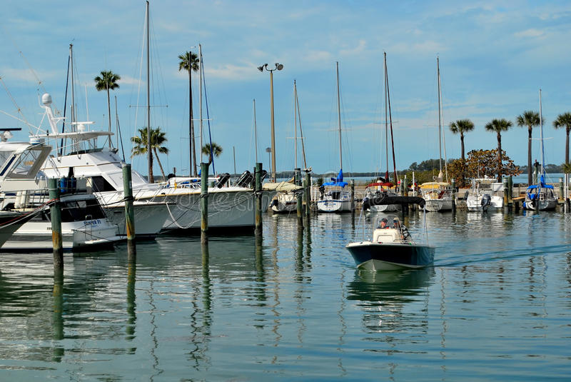 Barcos en el puerto deportivo en Dundedin, la Florida imágenes de archivo libres de regalías