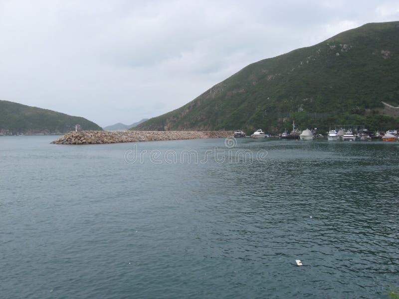 Barcos en el puerto deportivo en Po Chong Wan, Aberdeen, Hong Kong fotografía de archivo