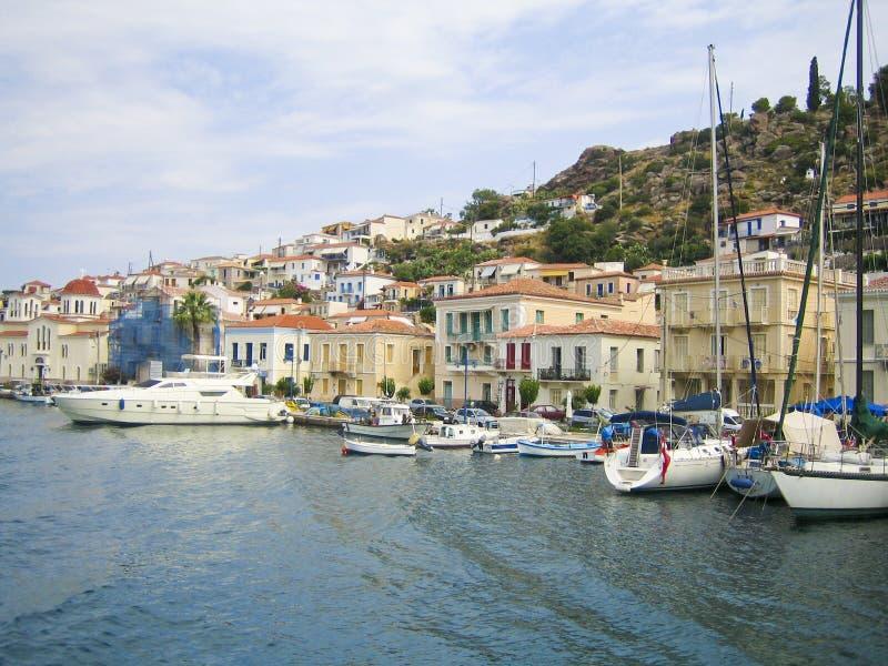 Barcos en Grecia fotografía de archivo libre de regalías