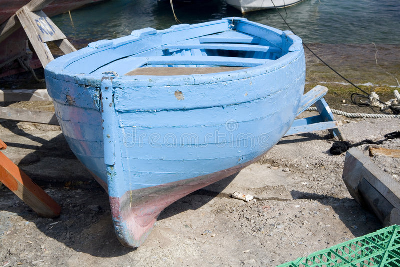 Barcos en la playa fotografía de archivo