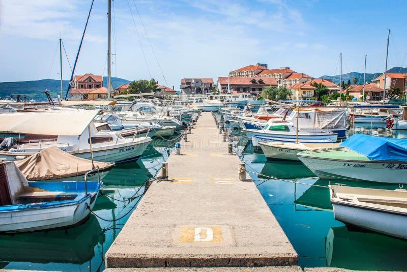 Barcos en Montenegro fotografía de archivo libre de regalías