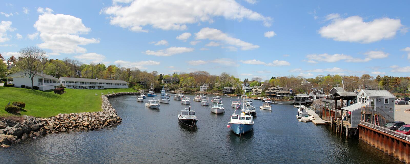 Barcos en Ogunquit, Maine imágenes de archivo libres de regalías