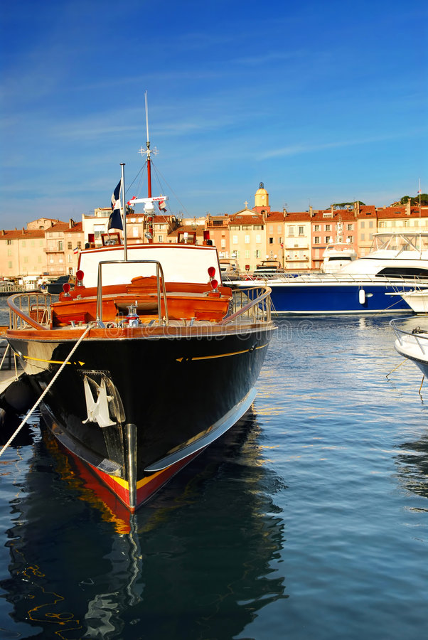 Barcos en St.Tropez fotografía de archivo