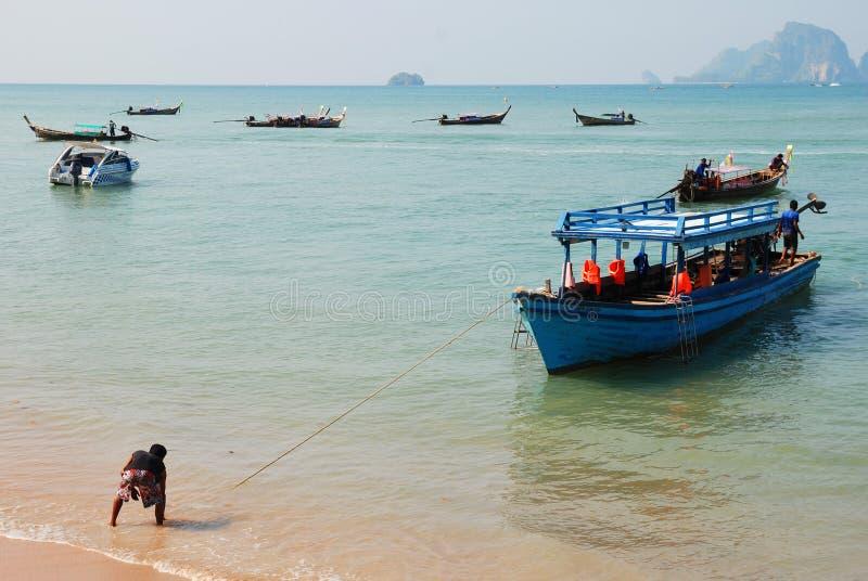 Barcos en Tailandia fotos de archivo libres de regalías